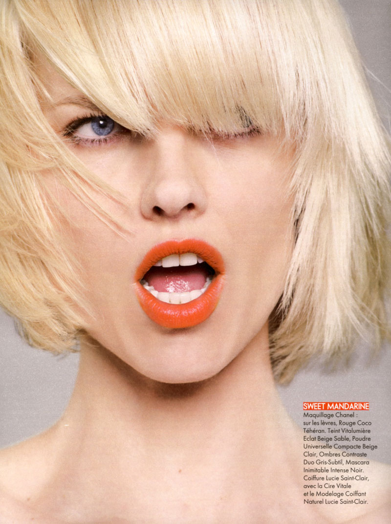 eva herzigova2 Eva Herzigova by Jan Welters for <em>Elle France</em> June 2010