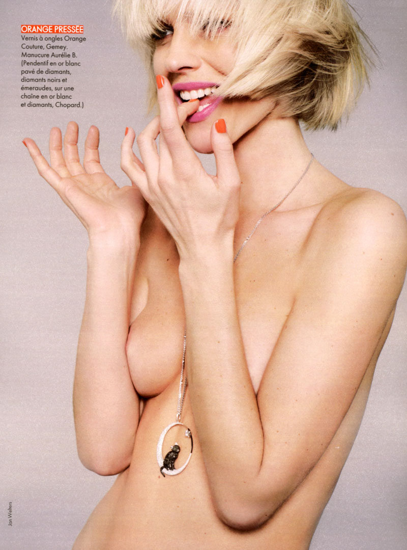 eva herzigova3 Eva Herzigova by Jan Welters for <em>Elle France</em> June 2010