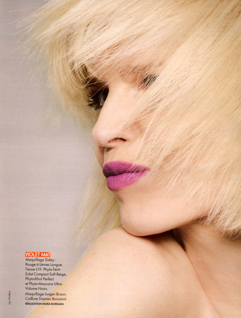 eva herzigova5 Eva Herzigova by Jan Welters for <em>Elle France</em> June 2010
