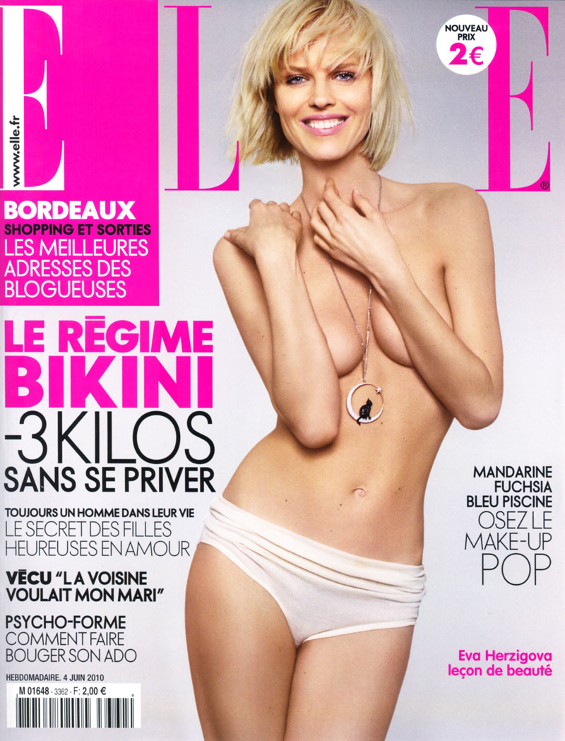 eva herzigova6 Eva Herzigova by Jan Welters for <em>Elle France</em> June 2010