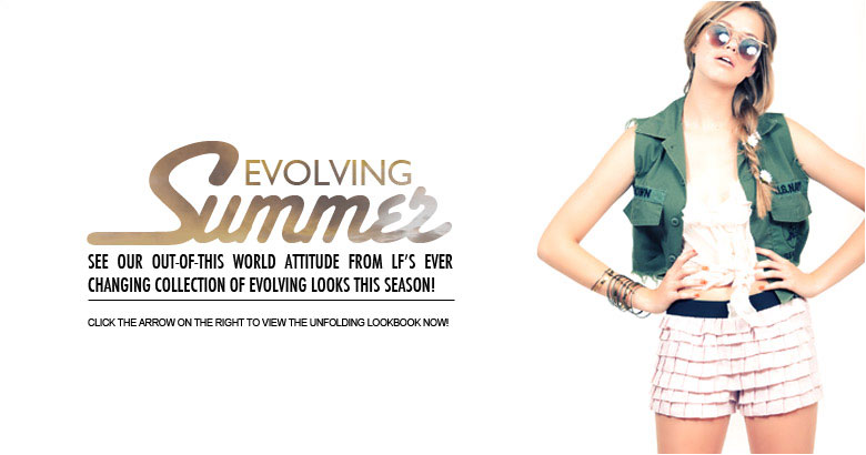 LF Stores Summer Evolving 2010 Lookbook featuring Hailey Clauson