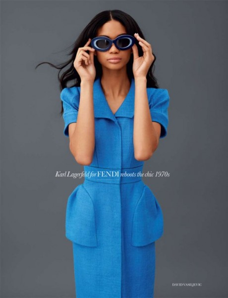 Chanel Iman by David Vasiljevic for <em>Elle UK</em> February 2011
