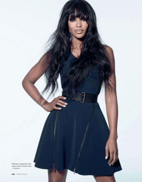 Naomi Campbell for <em>Elle Russia</em> February 2011 by Kayt Jones