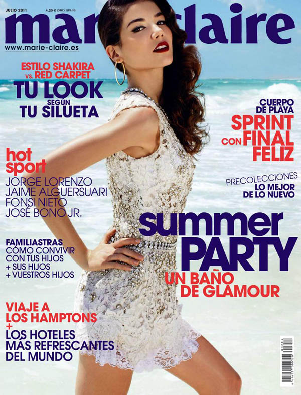 <em>Marie Claire Spain</em> July 2011 Cover | Sheila Marquez by David Roemer