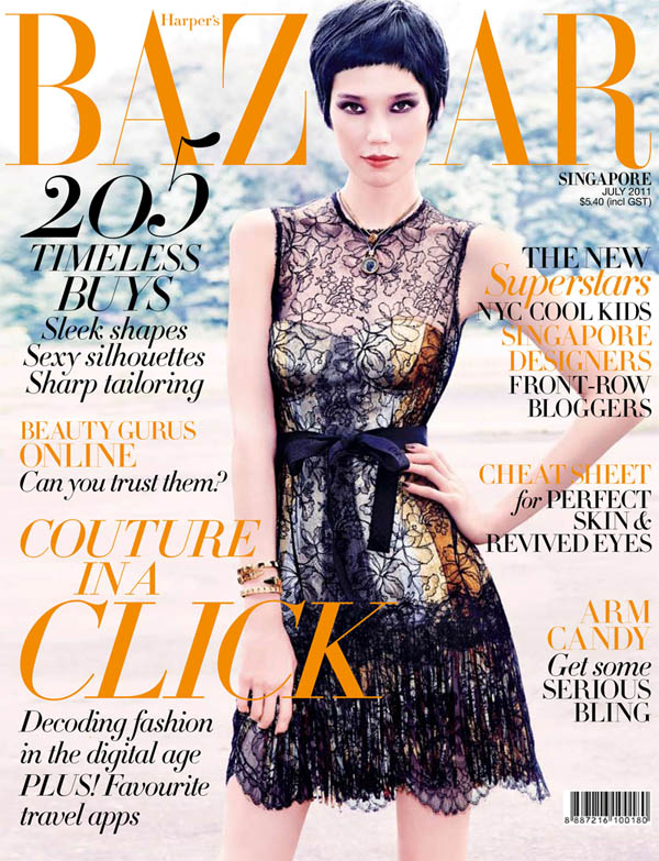<em>Harper&#8217;s Bazaar Singapore</em> July 2011 Cover | Tao Okamoto by Gan