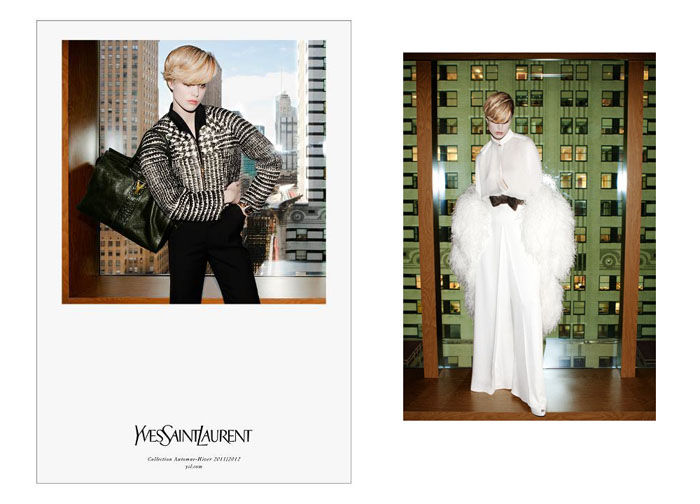 Yves Saint Laurent Fall 2011 Campaign Preview | Raquel Zimmermann by Inez & Vinoodh