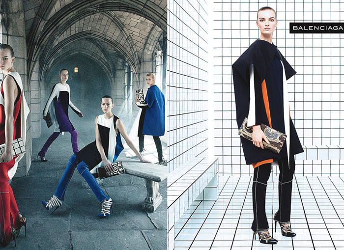 Balenciaga Fall 2011 Campaign Preview |  Julia Nobis, Liisa Winkler & Others by Steven Meisel