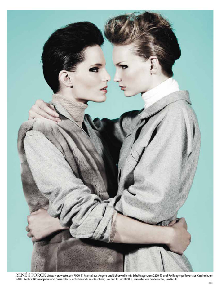 Iris Strubegger &#038; Katrin Thormann by Gregory Harris for <em>Vogue Germany</em> August 2011