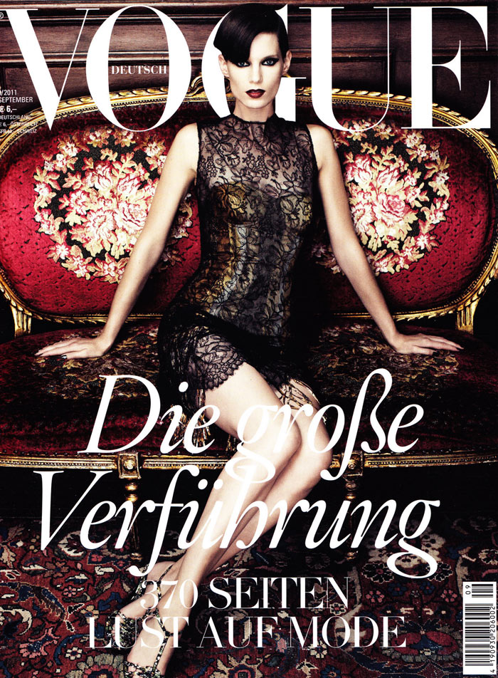 <em>Vogue Germany</em> September 2011 Cover | Iris Strubegger by Alexi Lubomirski