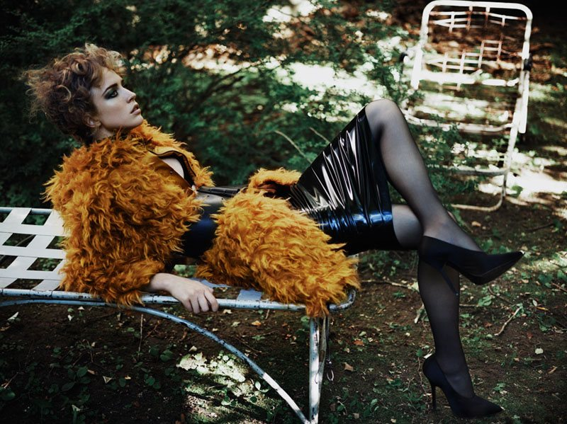 Raquel Zimmermann by Josh Olins for <em>i-D</em> Pre-Fall 2011