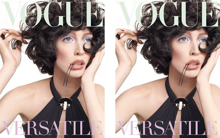 <em>Vogue Italia</em> August 2011 Cover | Raquel Zimmermann by Steven Meisel