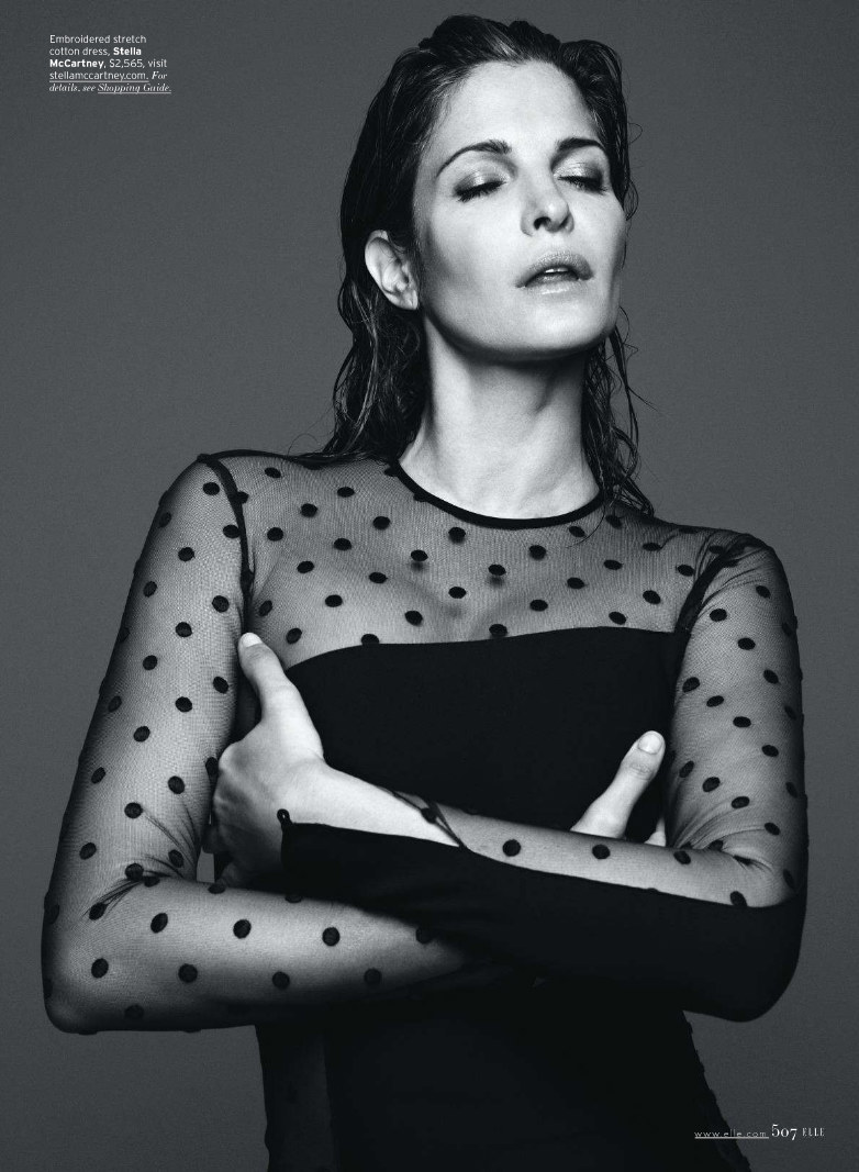 Stephanie Seymour by Horst Diekgerdes for <i>Elle US</i> September 2011