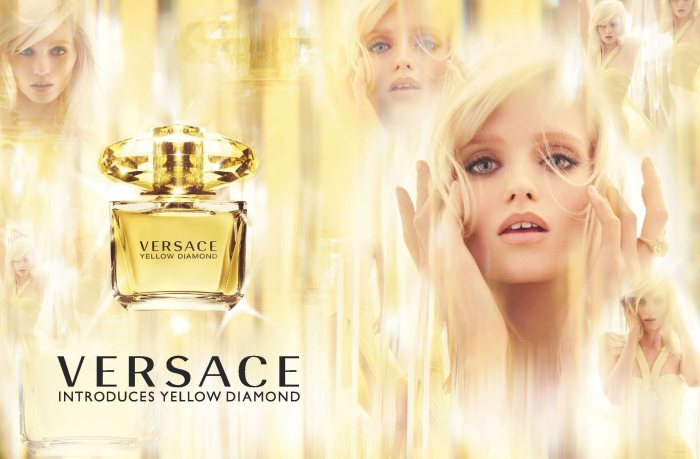 "Abbey Lee Kershaw for Versace ""Yellow Diamond"" Fragrance by Mario Testino"