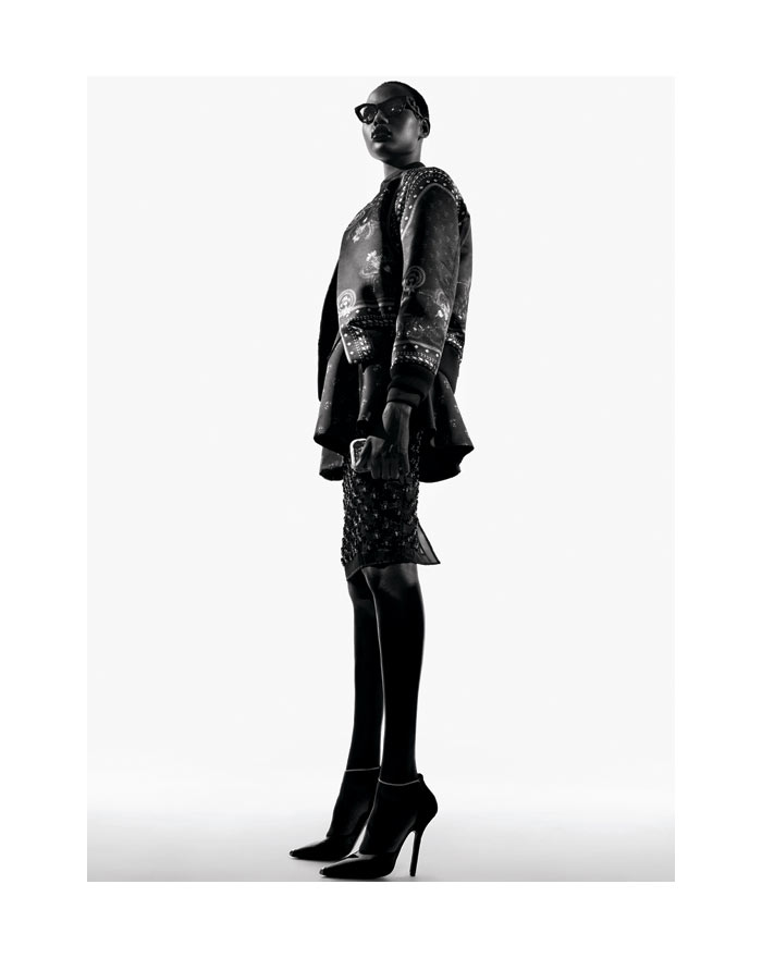 Ajak Deng in Givenchy by Amy Troost for <em>V Spain</em>