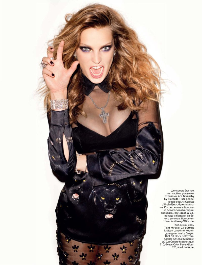 Daria Werbowy by Terry Richardson for <em>Vogue Russia</em> October 2011