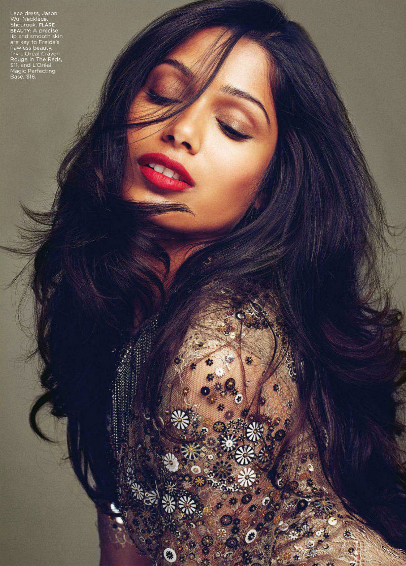 Freida Pinto by Max Abadian for <i>Flare</i> October 2011