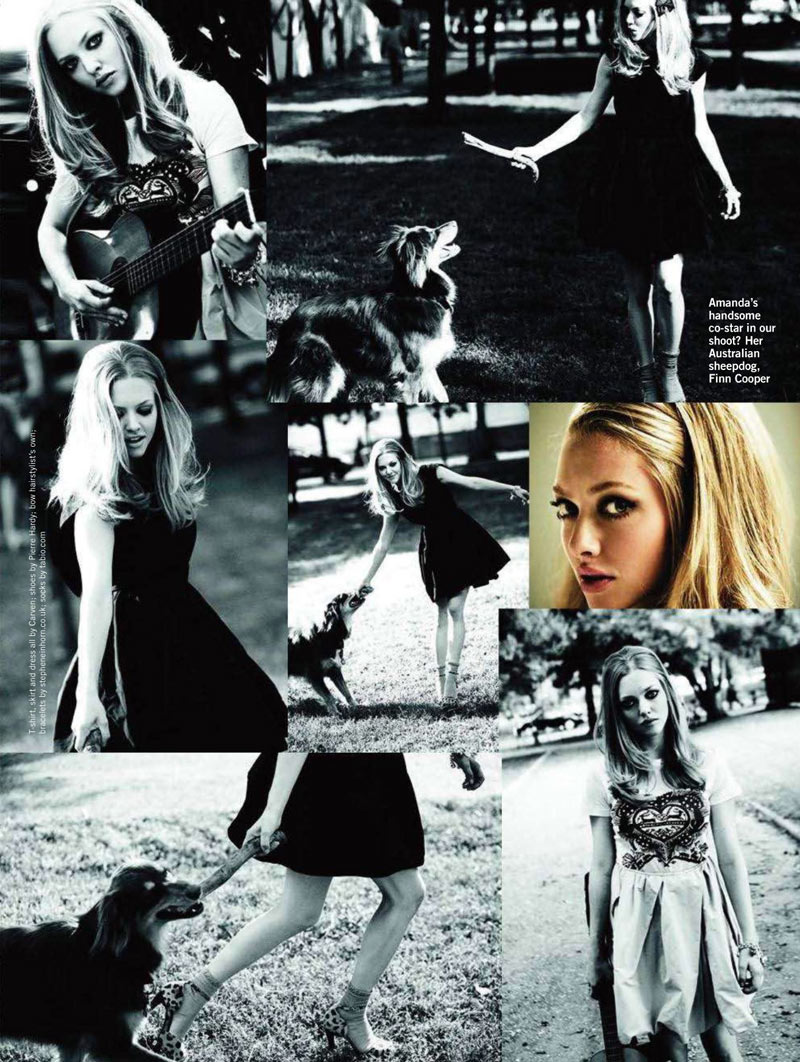 Amanda Seyfried by Simon Emmett for <em>Glamour UK</em> November 2011