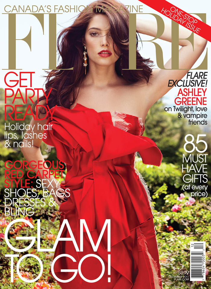 Ashley Greene by Max Abadian for <em>FLARE</em> December 2011 (Cover)