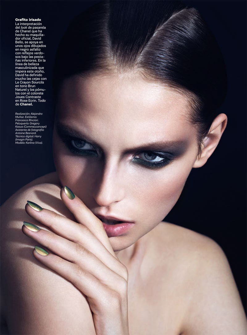 Karlina Caune by Christophe Meimoon for <em>S Moda</em>