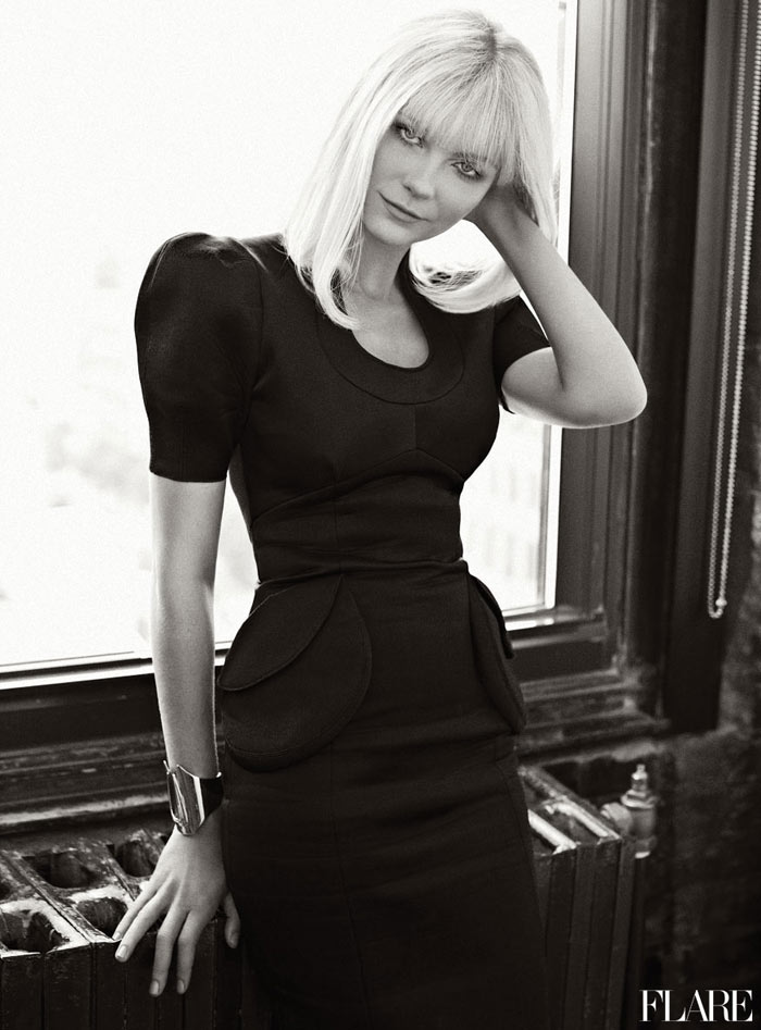 Kirsten Dunst by Max Abadian for <em>Flare</em> November 2011