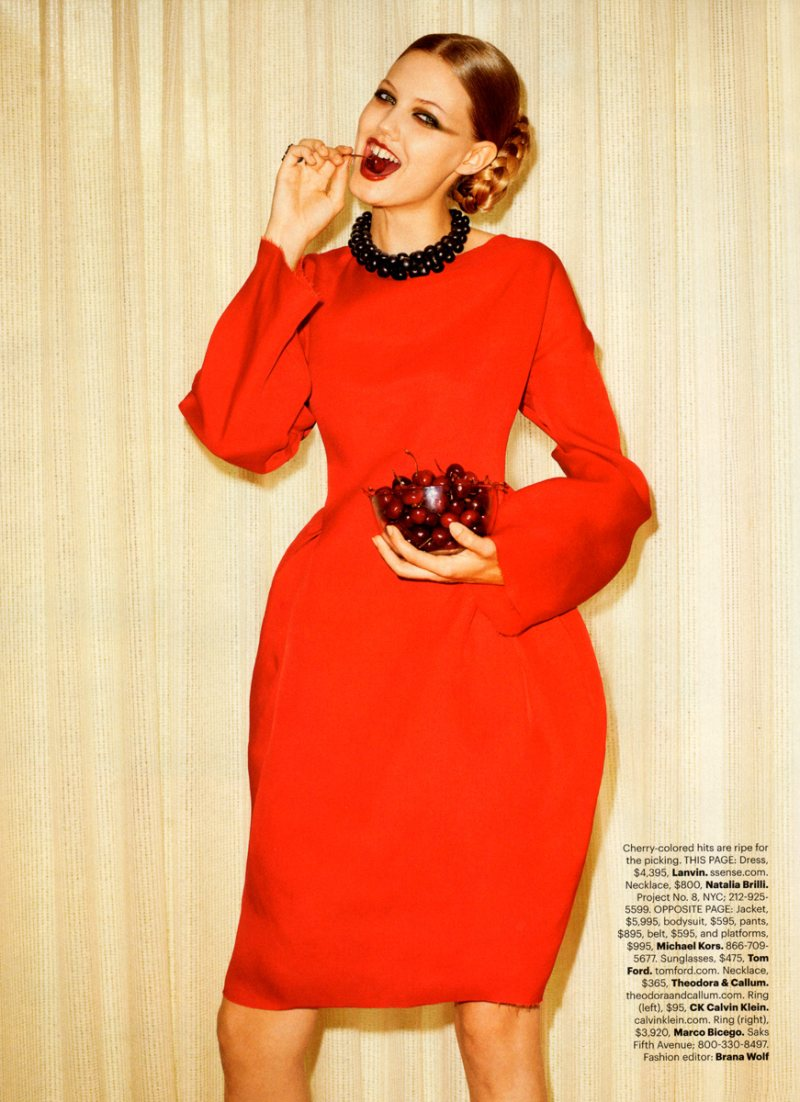 Lindsey Wixson by Terry Richardson for <em>Harper&#8217;s Bazaar US</em> October 2011