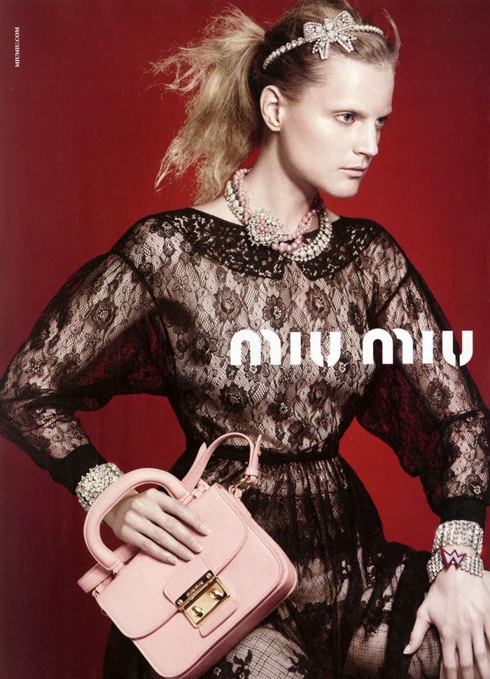 Guinevere van Seenus for Miu Miu Resort 2012 Campaign by David Sims