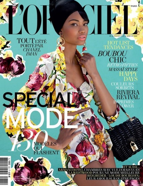 Chanel Iman Covers <em>L&#8217;Officiel Paris</em> February 2012 in Dolce &#038; Gabbana