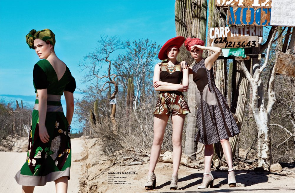 Anna, Polina &#038; Maxine by Santiago Ruisenor for <em>Elle Mexico</em> February 2012