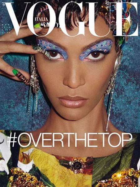 Vogue Italia March 2012 Cover | Joan Smalls by Steven Meisel