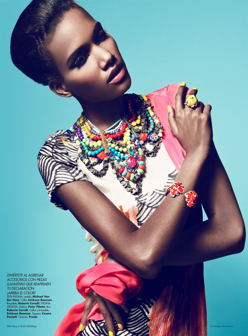 5 Arlenis Sosa by Kevin Sinclair for Harpers Bazaar Mexico May 2012