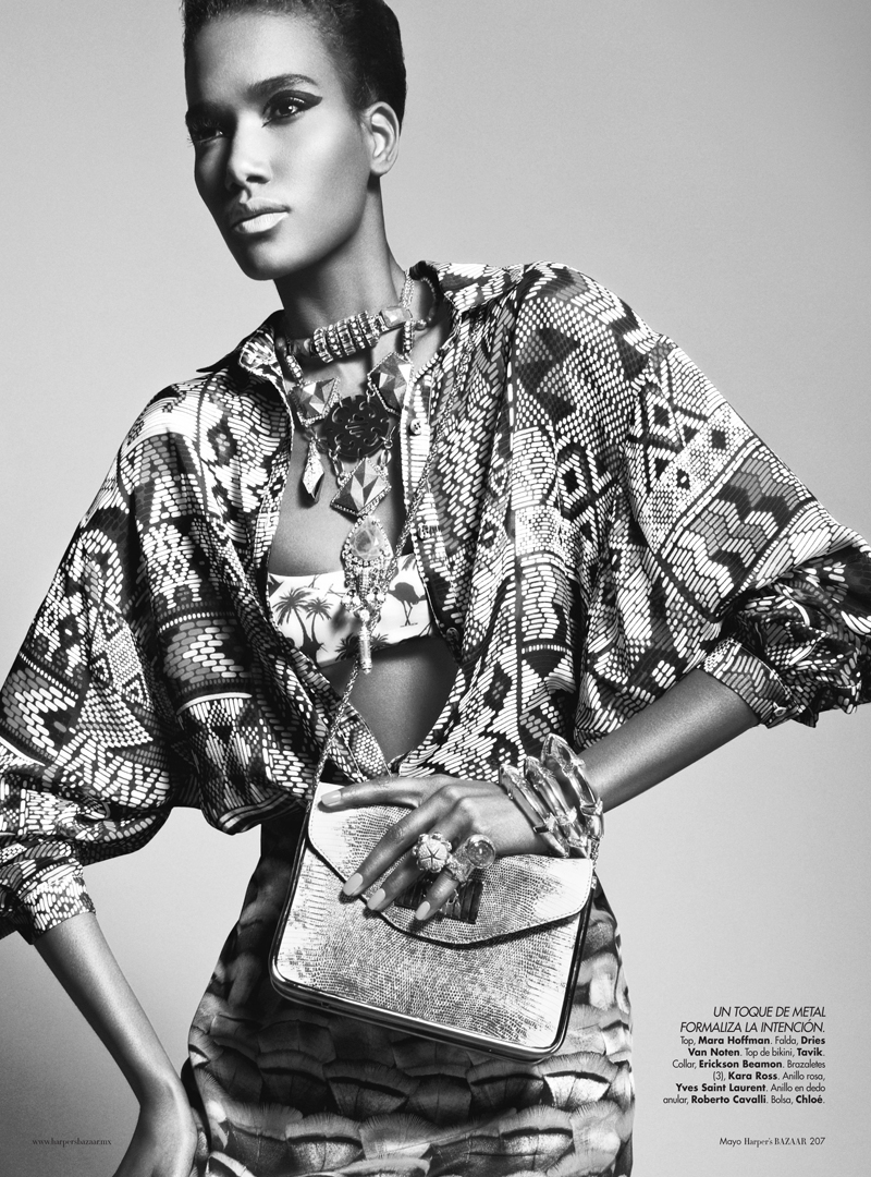 8 Arlenis Sosa by Kevin Sinclair for Harpers Bazaar Mexico May 2012