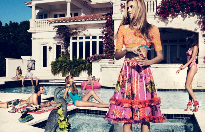 Valentina Zelyaeva's Chic Pool Party for Velvet June, Lensed by Marcus Ohlsson