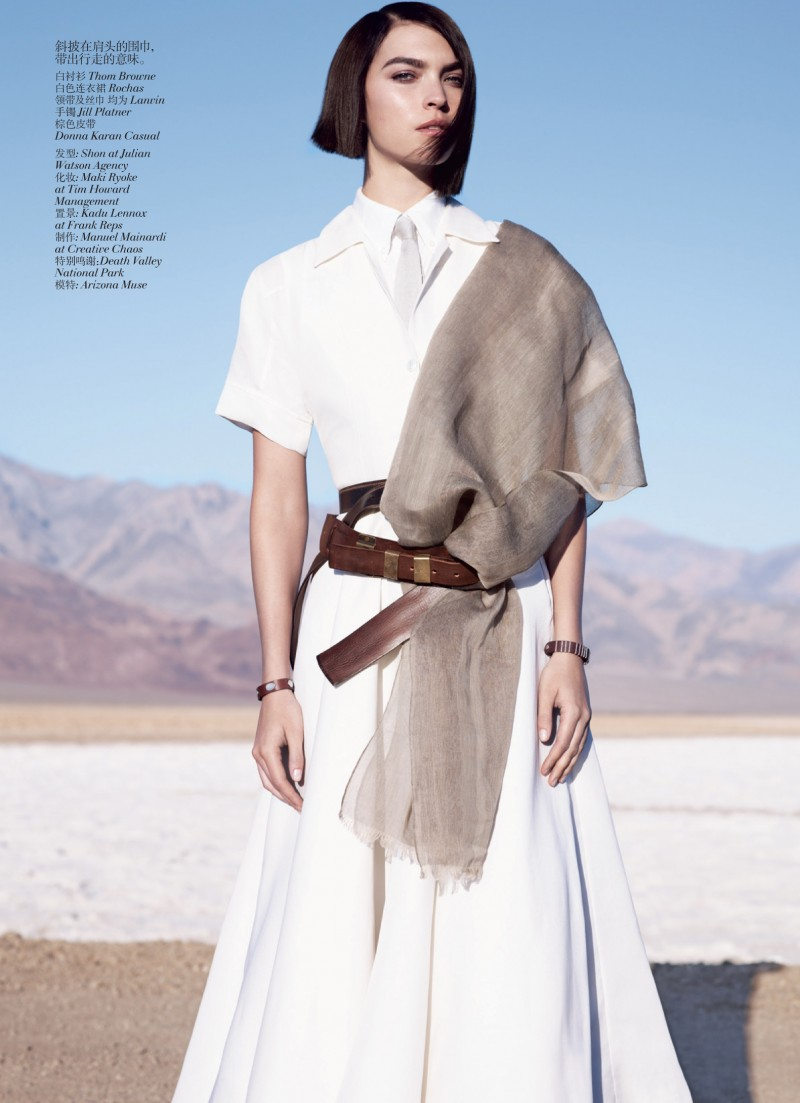 muse china 01 e1335985794591 Arizona Muse by Josh Olins for Vogue China May 2012
