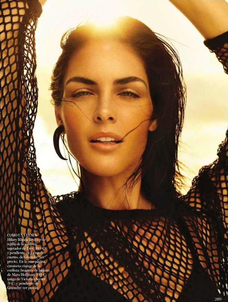 rhoda spain 2 Hilary Rhoda in Sporty Beachwear for Vogue Spain, Shot by Miguel Reveriego