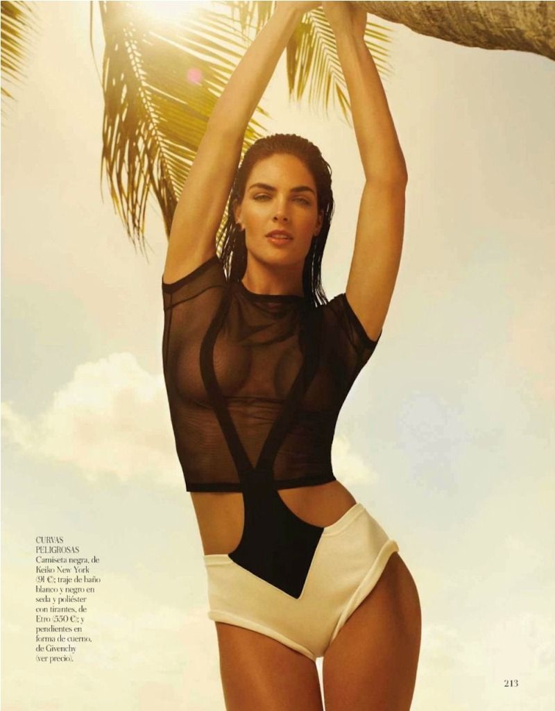 rhoda spain 5 Hilary Rhoda in Sporty Beachwear for Vogue Spain, Shot by Miguel Reveriego