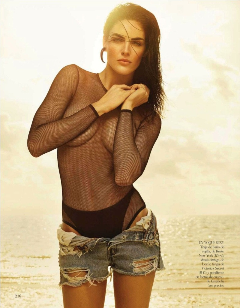 rhoda spain 8 Hilary Rhoda in Sporty Beachwear for Vogue Spain, Shot by Miguel Reveriego