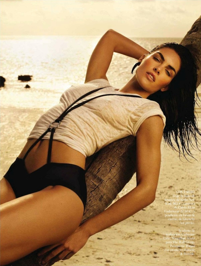 rhoda spain 9 Hilary Rhoda in Sporty Beachwear for Vogue Spain, Shot by Miguel Reveriego