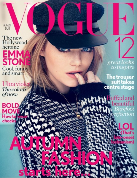 Emma Stone Charms in Max Mara for Vogue UK's August 2012 Cover