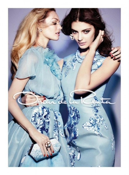 Candice Swanepoel & Katryn Kruger Are Two of a Kind for Oscar de la Renta's Fall 2012 Campaign