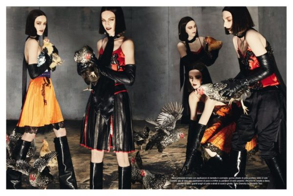 Steven Meisel Photographs the Fall Collections for Vogue Italia's July 2012 Cover Shoot