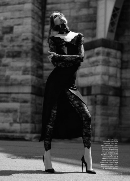 Caroline Brasch Nielsen Embraces the Dark Side for Harper's Bazaar Australia by Benny Horne