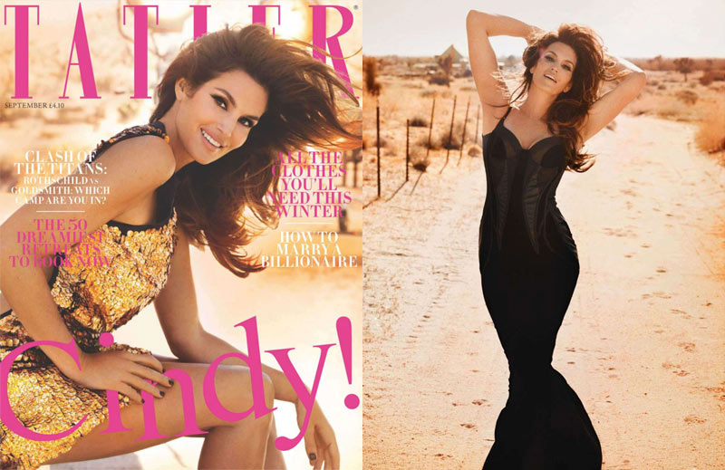 Cindy Crawford is Tatler's Bombshell Cover Girl for September 2012