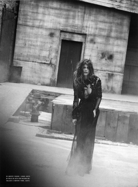 Elisa Sednaoui Gets Cinematic for Peter Lindbergh in Vogue Italia September 2012