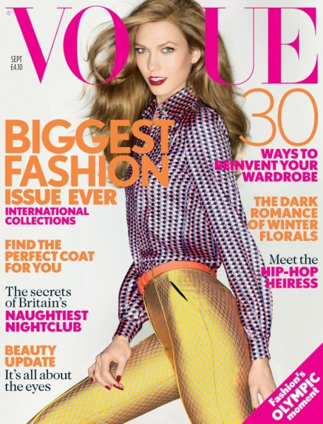 Karlie Kloss Graces the September 2012 Cover of Vogue UK in Jonathan Saunders