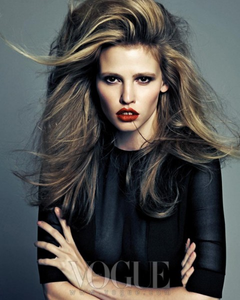 Lara Stone Rocks Calvin Klein for Vogue Korea's August 2012 Cover Shoot