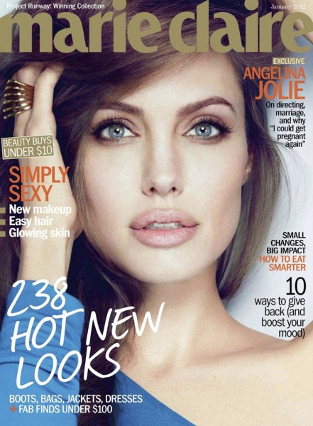 Angelina Jolie by Alexei Hay for <em>Marie Claire US</em> January 2012 (Cover)