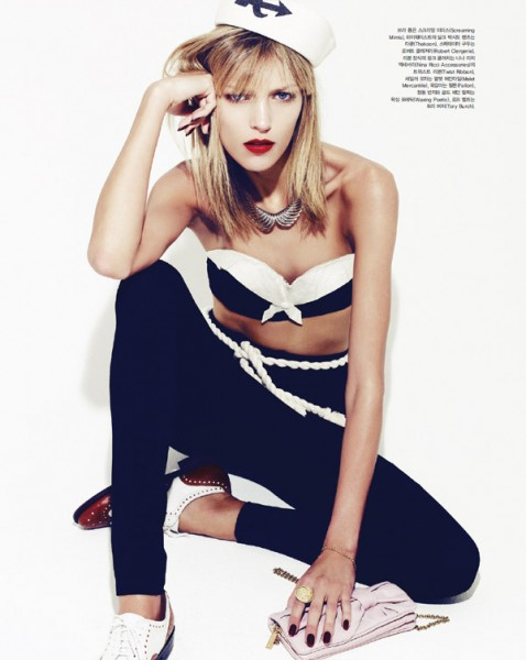 Anja Rubik by Nagi Sakai for <em>Vogue Korea</em> June 2010