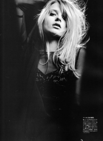 Anna Jagodzinska by Hedi Slimane in Soft Machine | <em>Vogue Nippon</em> August 2010