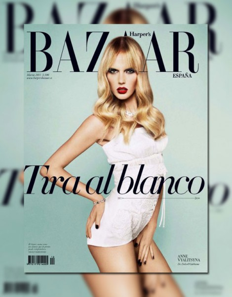 <em>Harper&#8217;s Bazaar Spain</em> March 2011 Cover | Anne Vyalitsyna by Txema Yeste