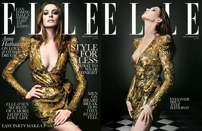 <em>Elle UK</em> December 2010 Cover | Anne Hathaway